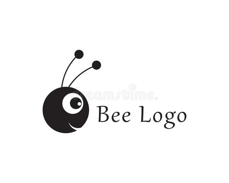 Illustration d'ic?ne de vecteur de Logo Template d'abeille illustration libre de droits