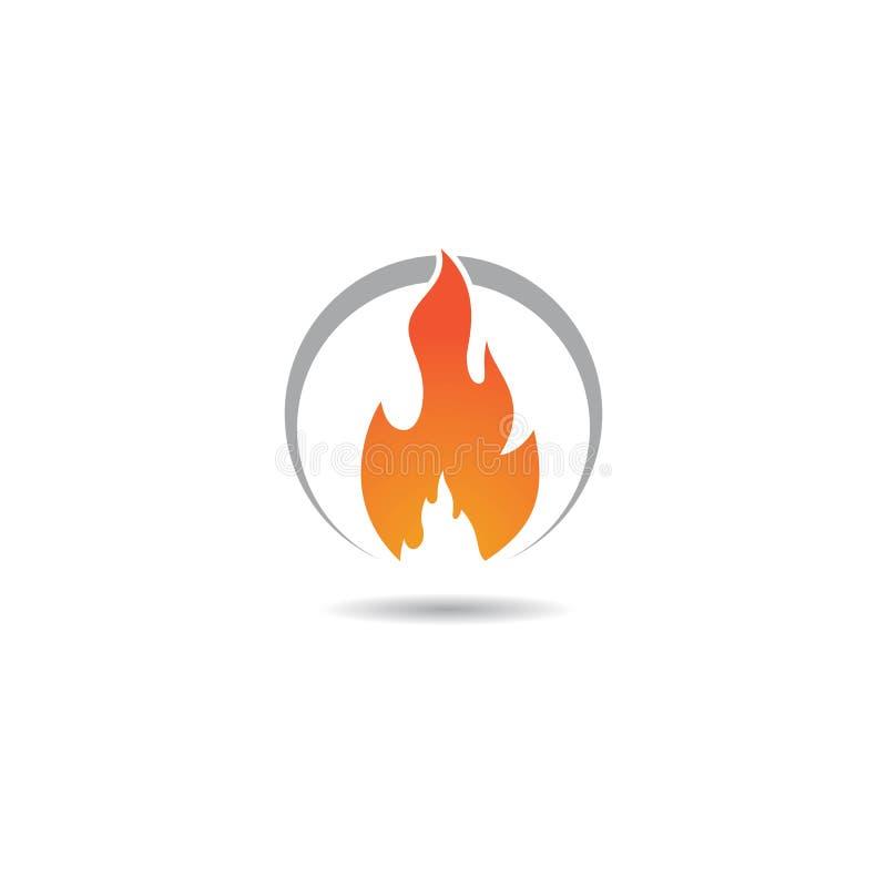 Illustration d'ic?ne de vecteur de symbole de feu illustration stock