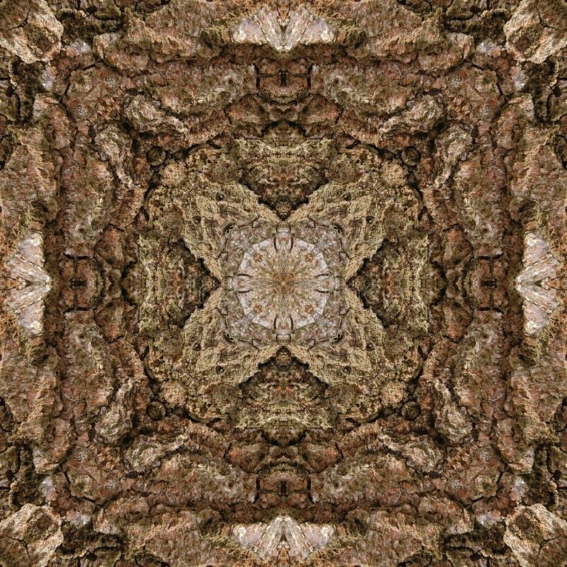 illustration 3D Image abstraite d'une surface en bois d'une écorce d'un arbre illustration stock
