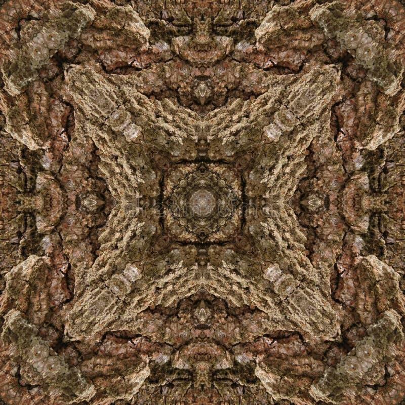 illustration 3D Image abstraite d'une surface en bois d'une écorce d'un arbre illustration libre de droits