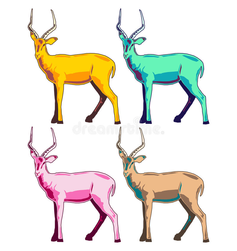 Illustration d'impala illustration libre de droits