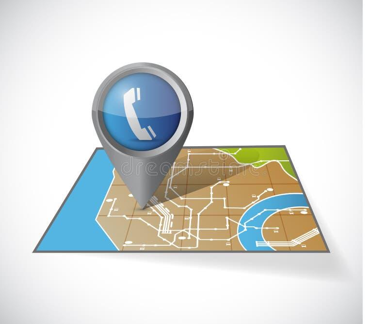 Illustration d'indicateur de communication de carte illustration stock