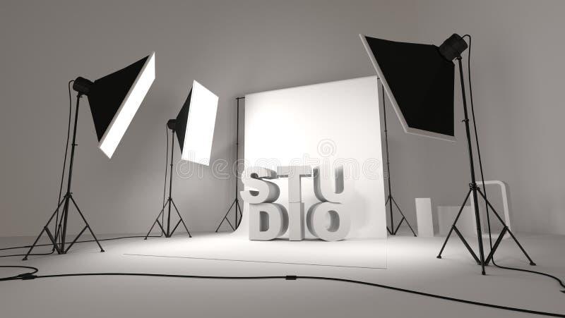 Illustration d'installation de studio de photo illustration libre de droits