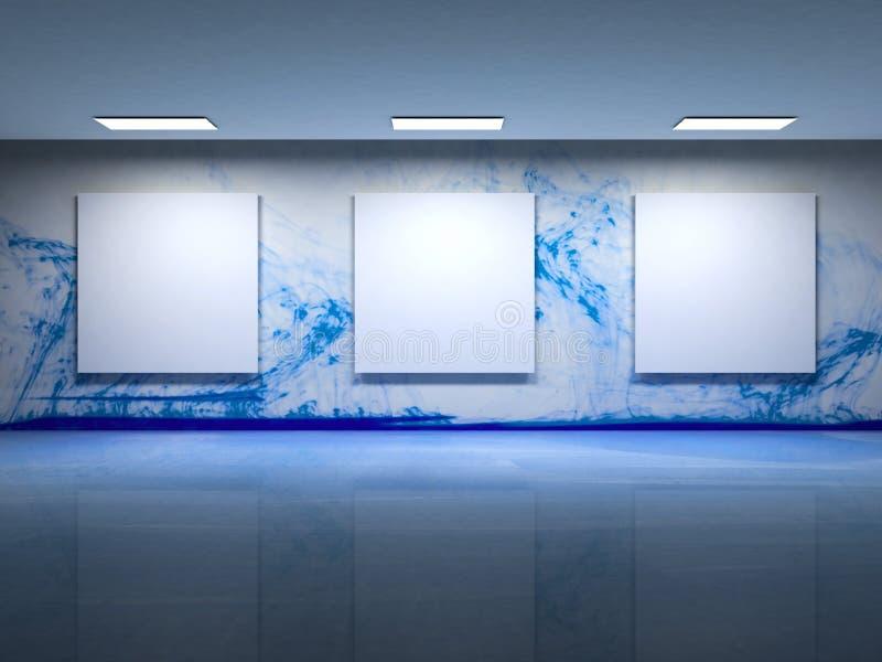 Illustration d'intérieur de galerie d'art contemporain illustration de vecteur