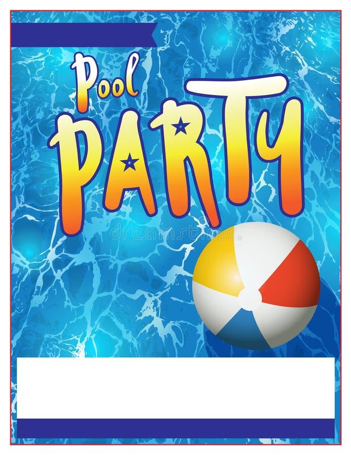 Illustration d'invitation d'insecte de réception au bord de la piscine illustration libre de droits