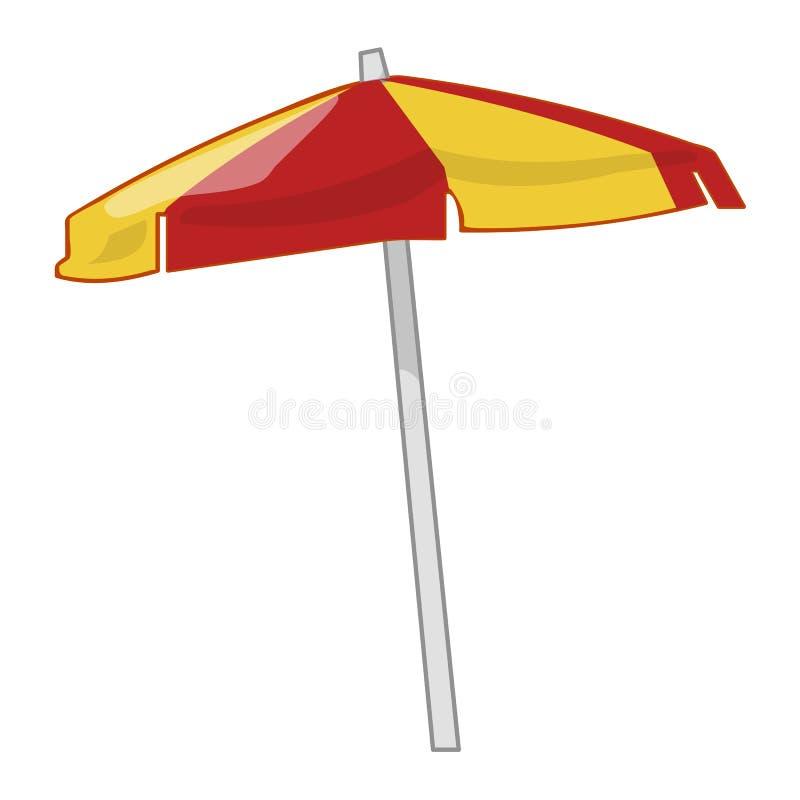 Illustration d'isolement de parapluie de plage illustration de vecteur