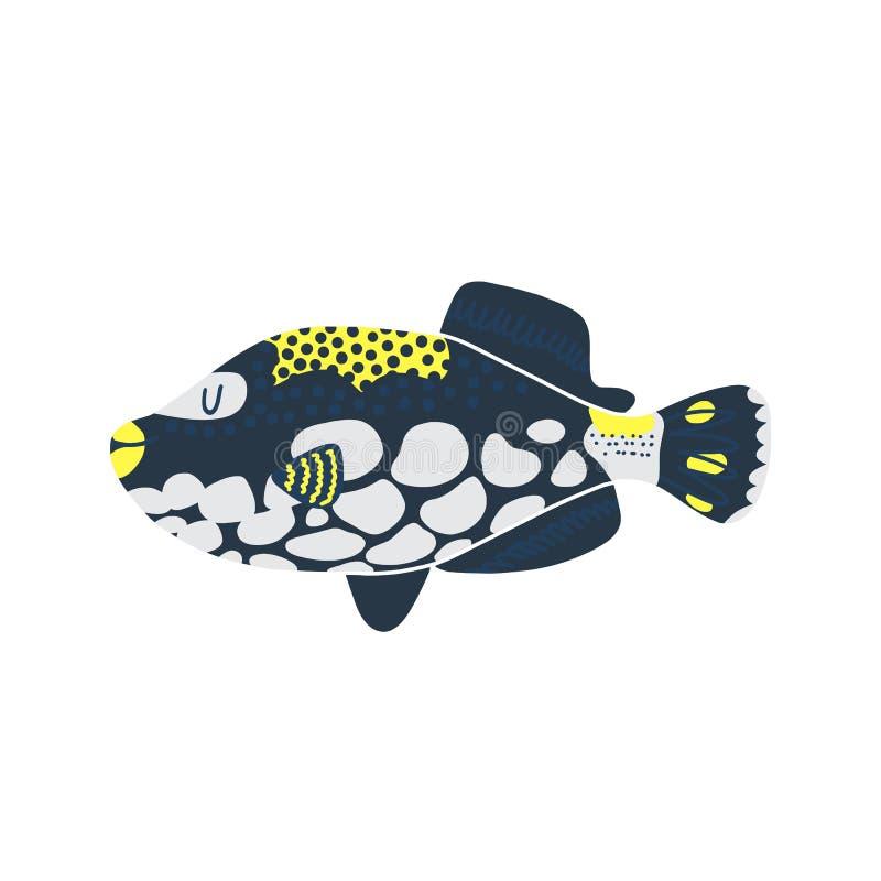 Illustration d'isolement de poissons Placez des poissons d'eau douce de bande dessin?e d'aquarium illustration libre de droits