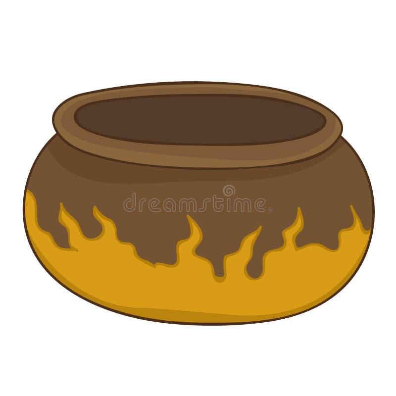 Illustration d'isolement de pot d'argile illustration de vecteur