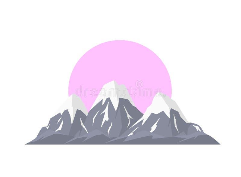 Illustration d'isolement de vecteur de gamme de montagnes de Milou illustration libre de droits