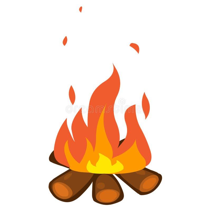 Illustration d'isolement par feu de camp illustration de vecteur