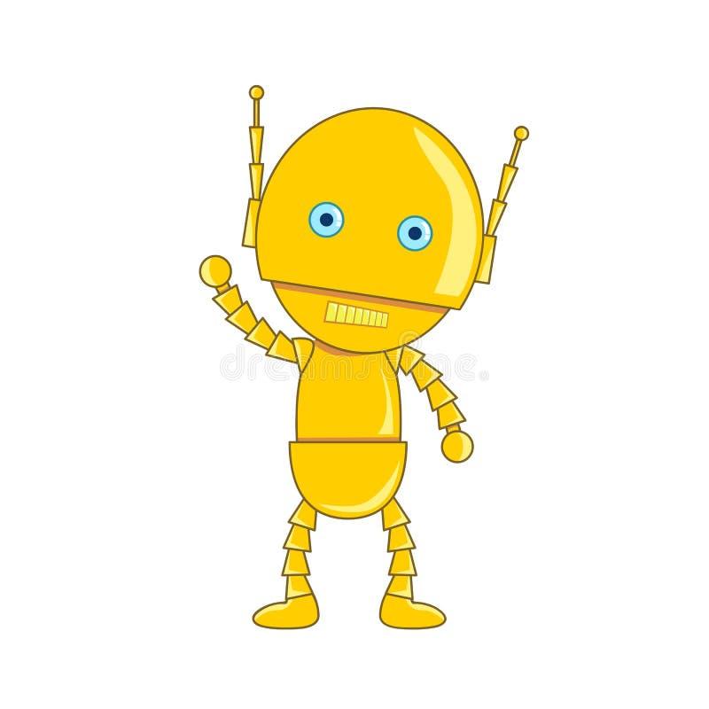Illustration d'isolement par robot mignon illustration stock