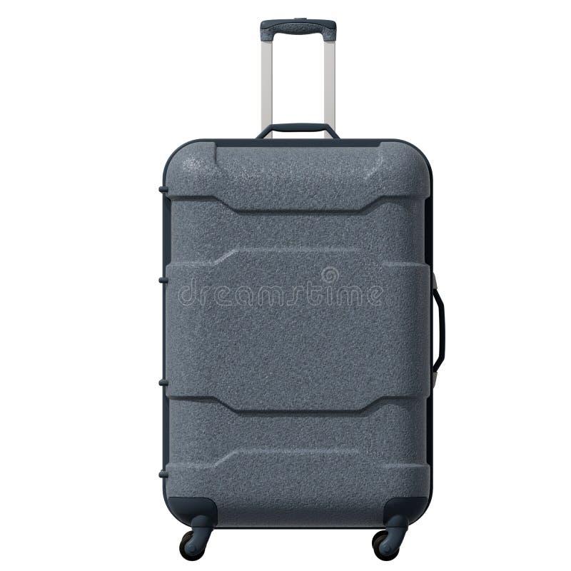 illustration 3d Korrugerad plast- resväska för väg i grå färger facade isolerat royaltyfri illustrationer