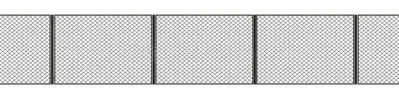 illustration 3d Netto metallstaket p? en vit bakgrund stock illustrationer