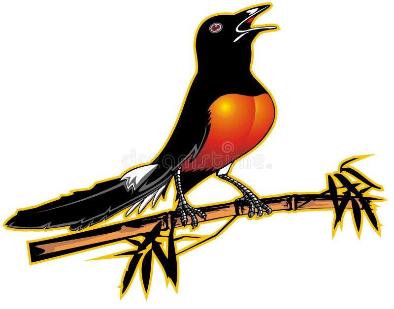 Illustration d'oiseau photographie stock