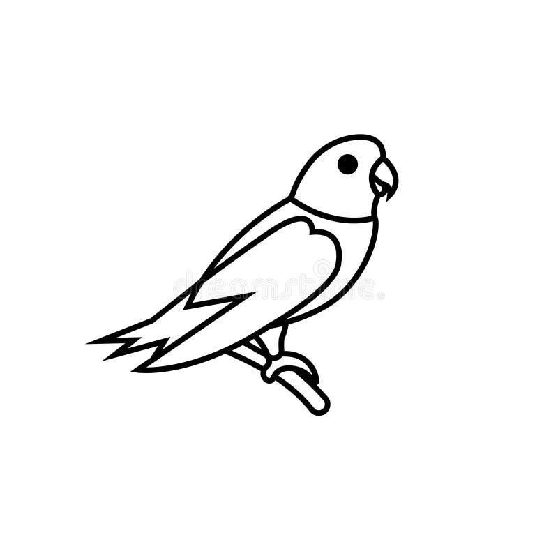 Illustration d'oiseau de symbole de signe de vecteur d'oiseau de perroquet illustration stock