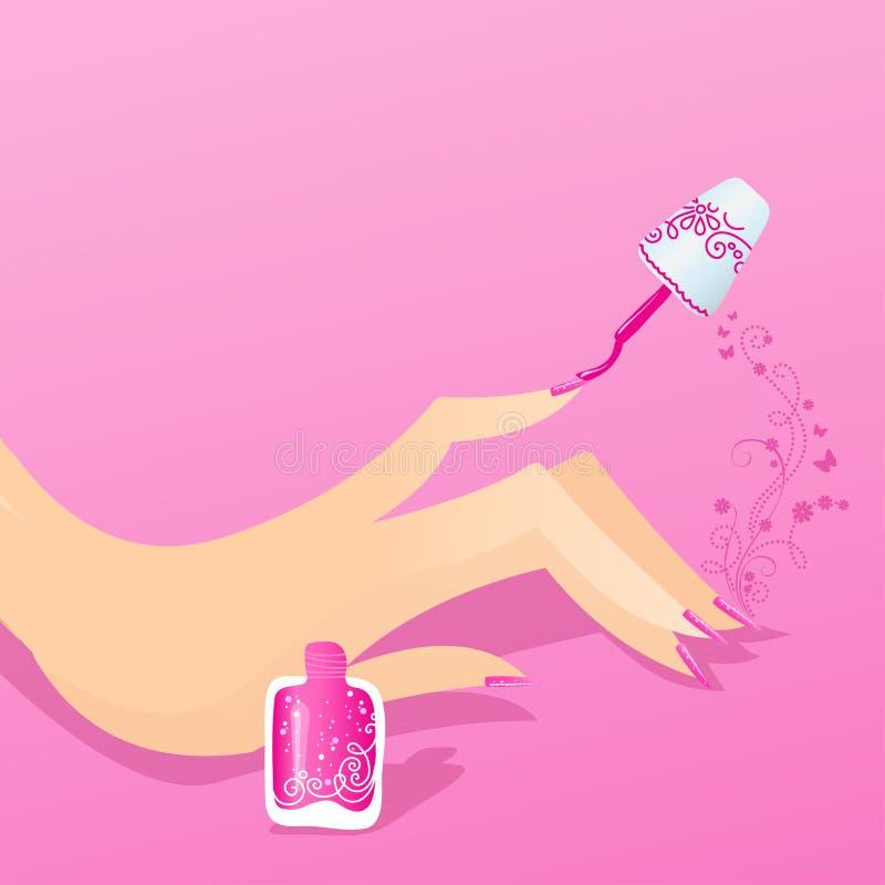Illustration d'ongle de manucure de femme