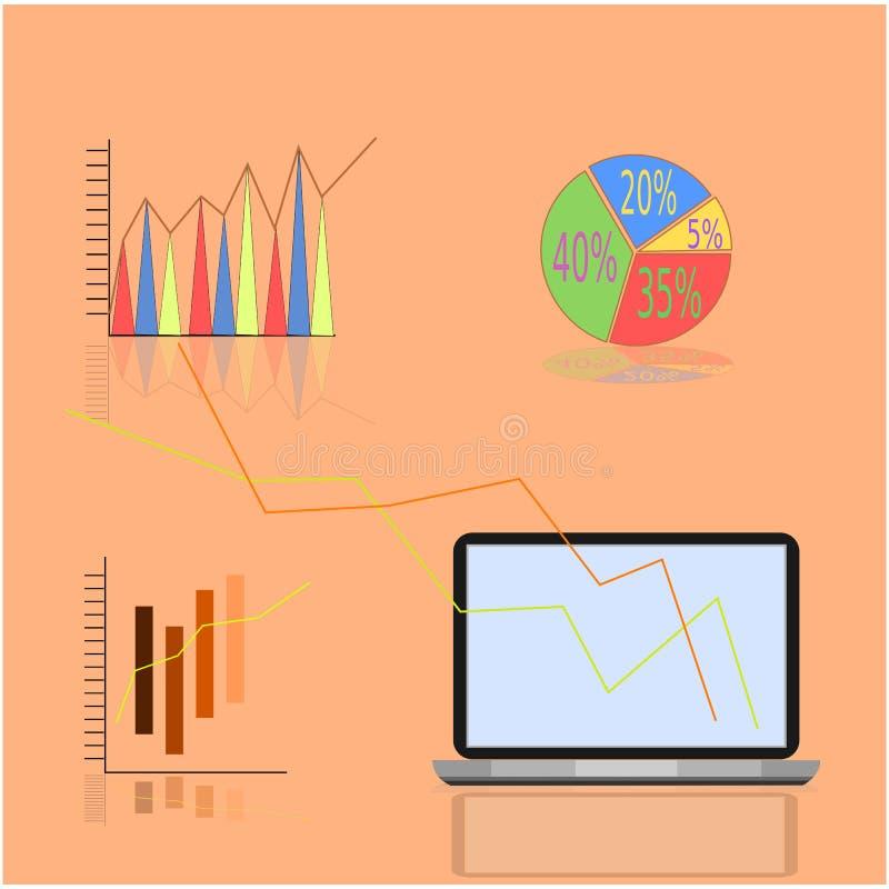 Illustration d'ordinateur illustration de vecteur