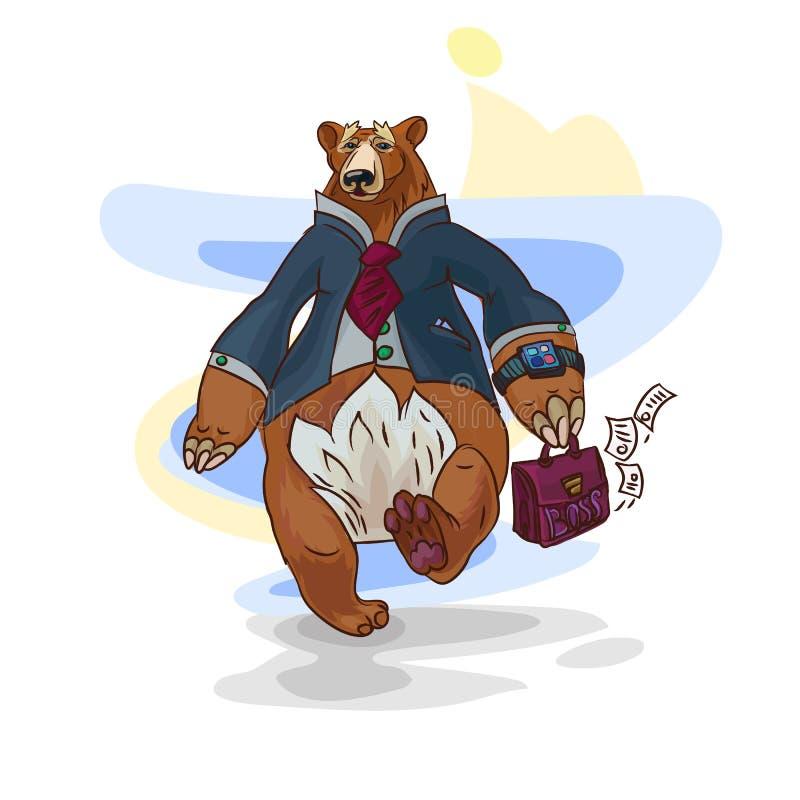 Illustration d'ours d'affaires illustration libre de droits