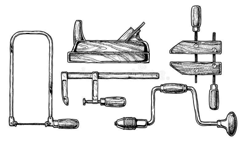 Illustration d'outil de travail du bois illustration stock