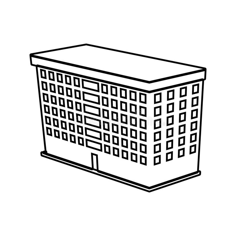 Illustration of 3d school building icon. Element of 3d building for mobile concept and web apps icon. Thin line icon for website. Design and development, app stock illustration