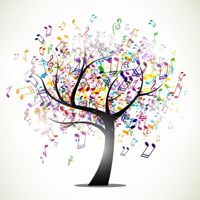 Arbre abstrait de musique illustration stock