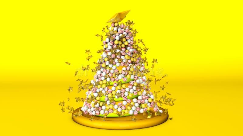 illustration 3d d'un arbre de No?l illustration libre de droits