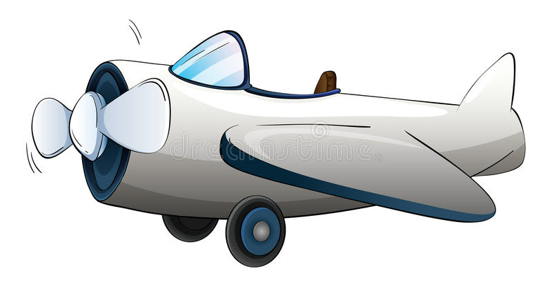 Illustration d'un avion illustration de vecteur
