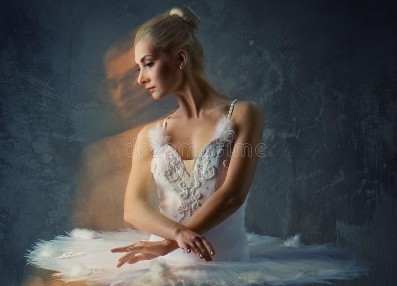 Illustration d'un beau danseur de ballet. photographie stock