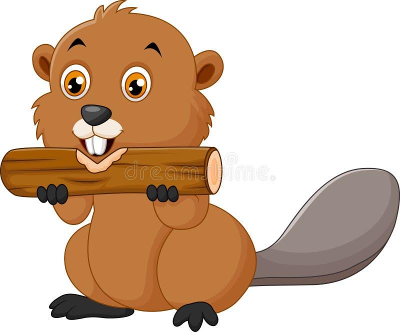 Illustration d'un castor sur un fond blanc illustration de vecteur