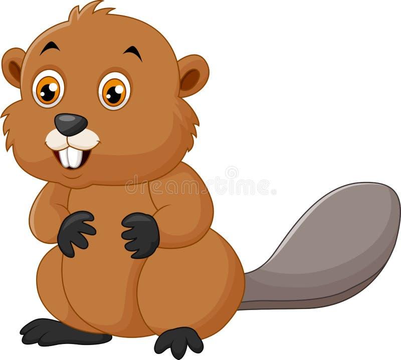 Illustration d'un castor sur un fond blanc illustration stock