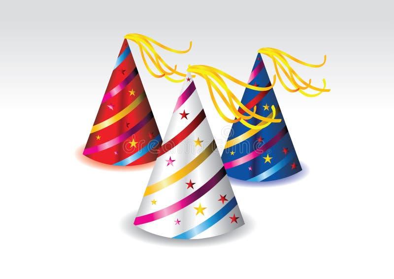 Illustration d'un chapeau coloré de réception illustration de vecteur