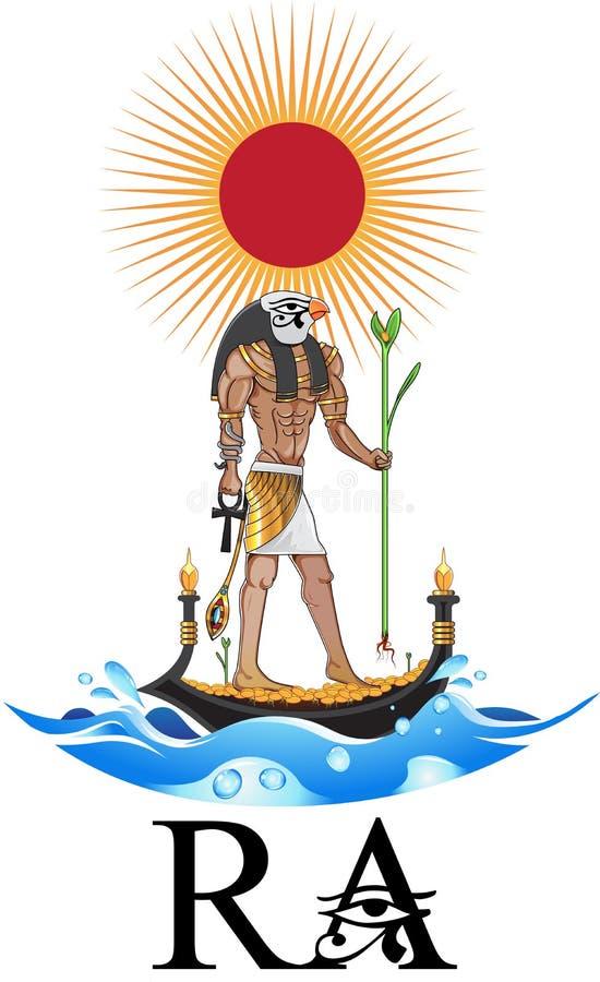 Illustration d'un dieu soleil illustration libre de droits