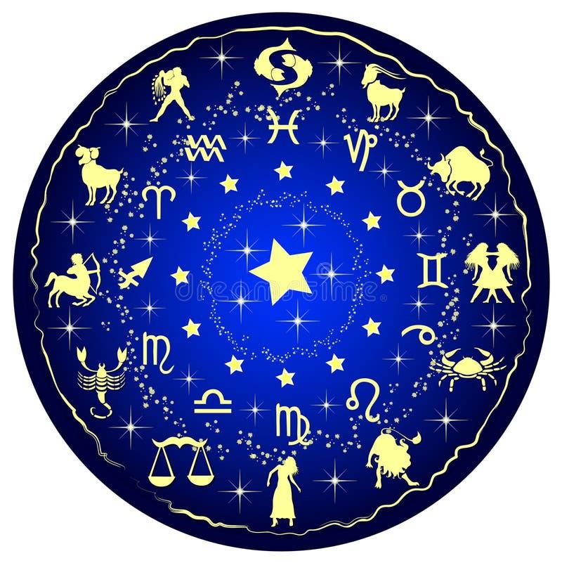 Illustration d'un disque de zodiaque illustration de vecteur