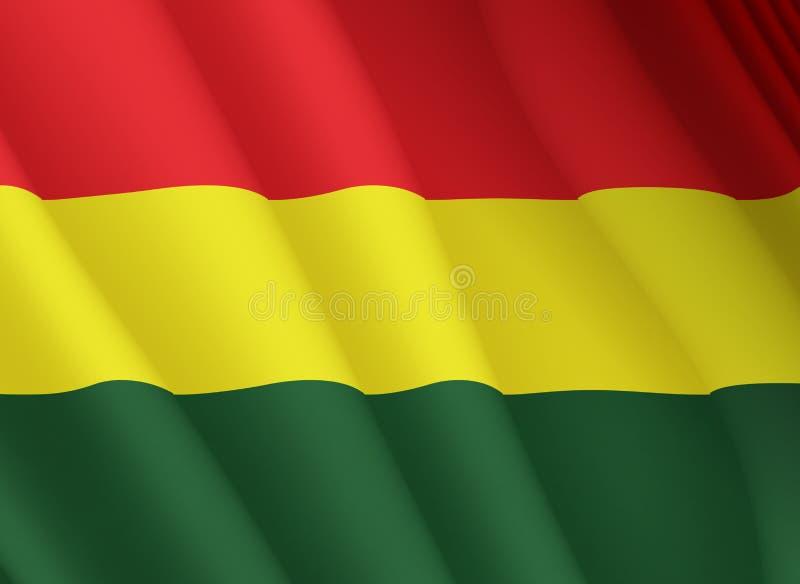 Illustration d'un drapeau de Bolivien de vol illustration stock