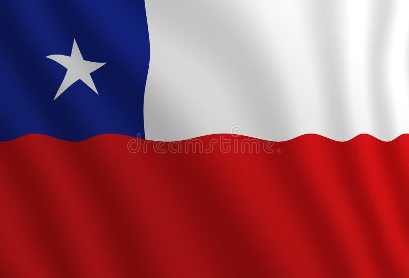 Illustration d'un drapeau de Chilien de vol illustration de vecteur