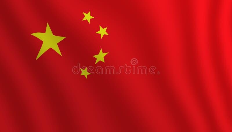 Illustration d'un drapeau de Chinois de vol illustration de vecteur