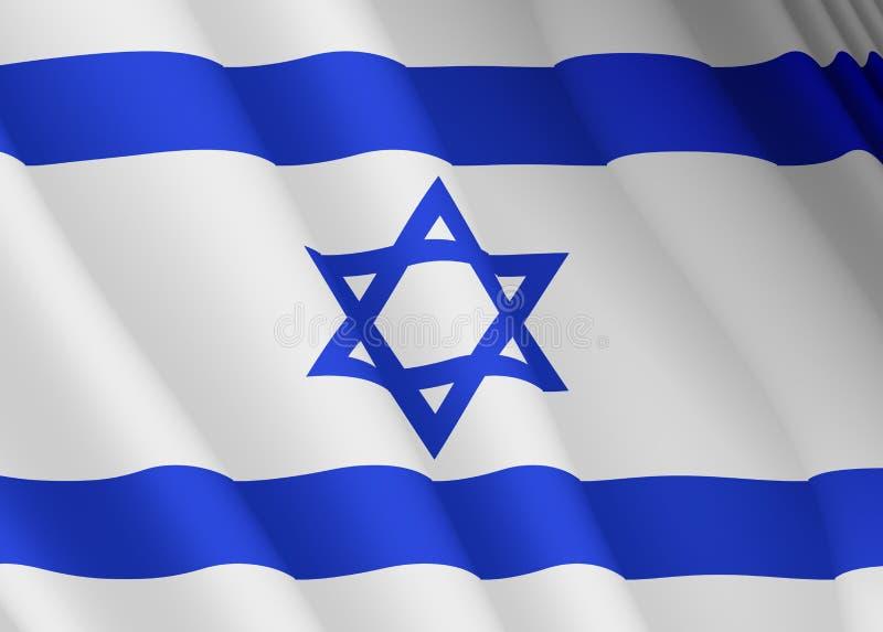 Illustration d'un drapeau d'Israélien de vol illustration libre de droits