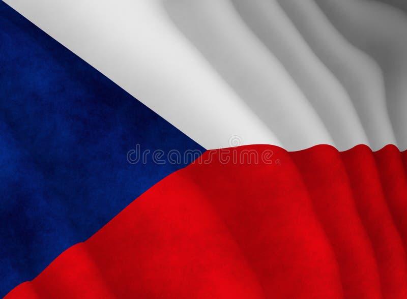 Illustration d'un drapeau tchèque volant illustration stock