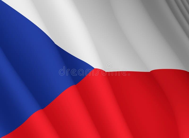 Illustration d'un drapeau tchèque volant illustration libre de droits