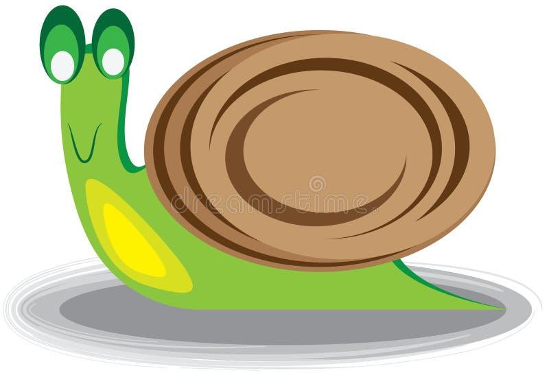 Illustration d'un escargot photos libres de droits