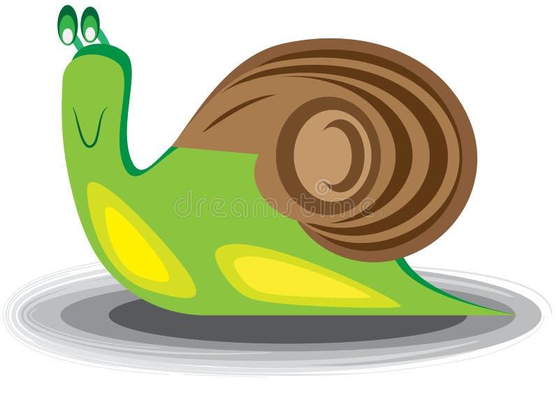 Illustration d'un escargot images stock