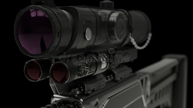 illustration 3d d'un fusil photos libres de droits