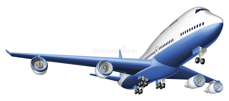 Illustration d'un grand avion de passagers illustration libre de droits