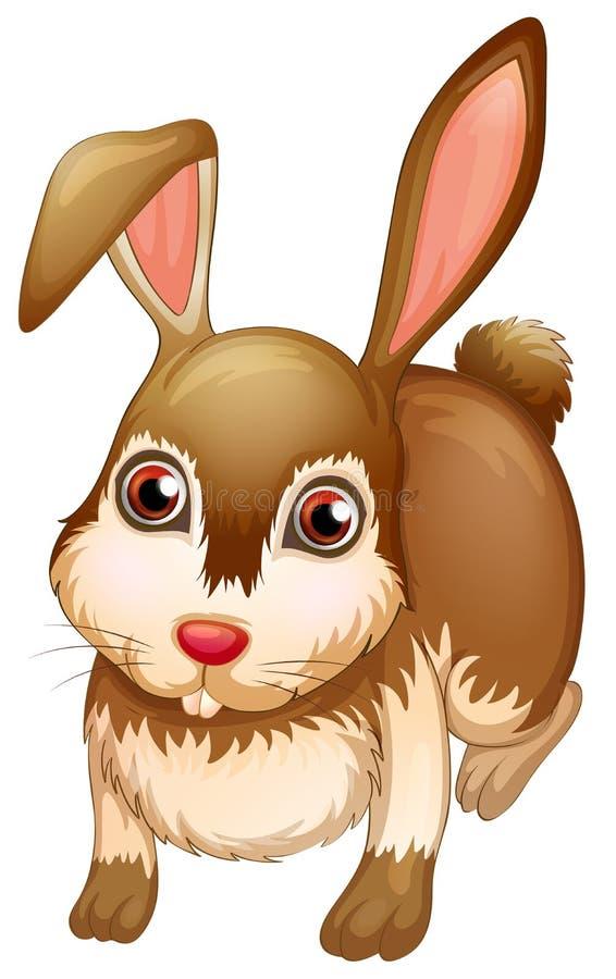 Un grand lapin brun illustration de vecteur