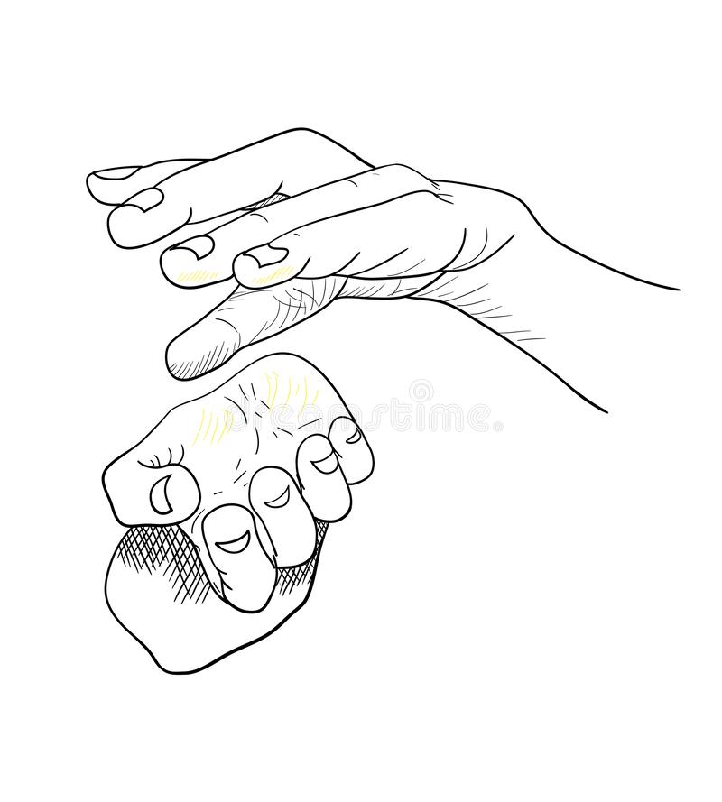 Illustration d'un humain dans les graphiques Stylo de noir de figure illustration libre de droits
