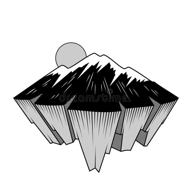 Illustration d'un logo de montagne illustration libre de droits