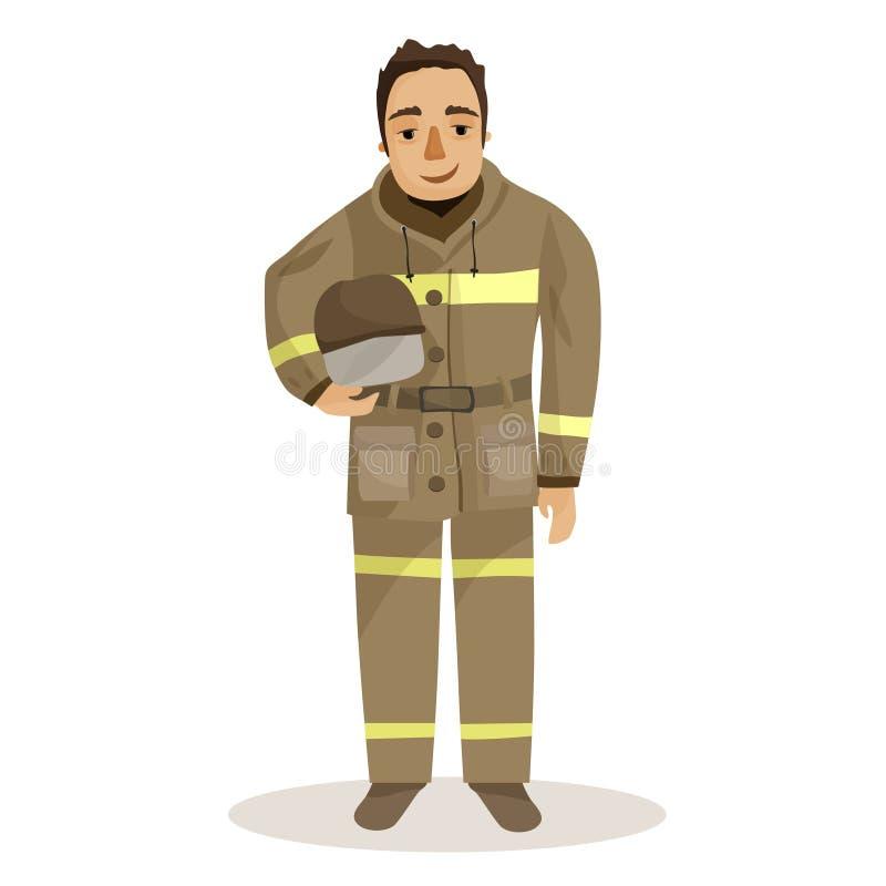 Illustration d'un pompier illustration libre de droits
