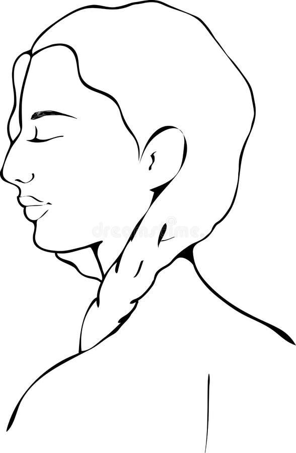 Illustration d'un portrait d'une fille images libres de droits