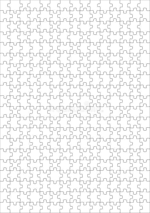 puzzle vide de 300 morceaux illustration libre de droits