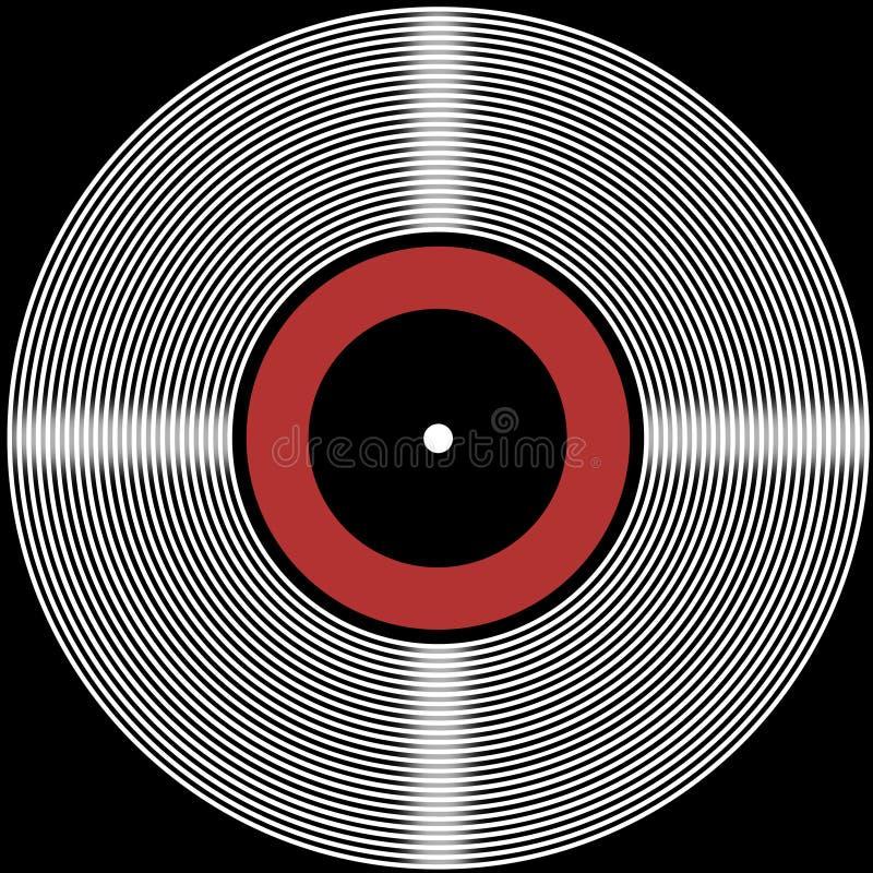 Rétro fond de disque de vinyle illustration libre de droits